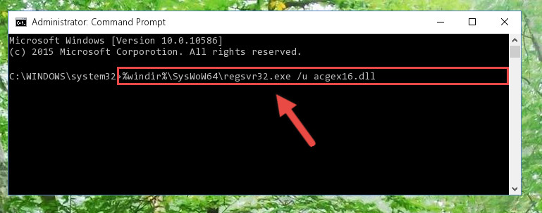 Uninstalling the Acgex16.dll file's problematic registry from Regedit (for 64 Bit)
