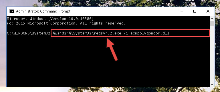 Creating a new registry for the Acmpolygoncom.dll library