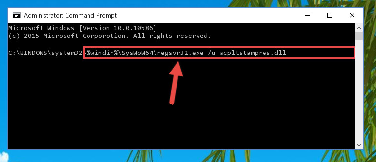 Uninstalling the Acpltstampres.dll file's broken registry from the Registry Editor (for 64 Bit)