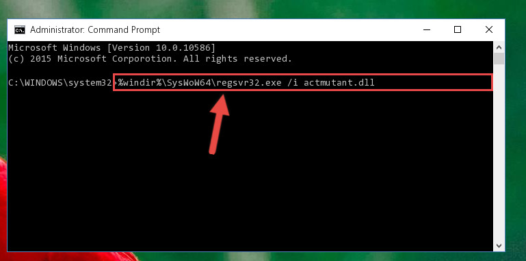 Creating a clean registry for the Actmutant.dll file (for 64 Bit)