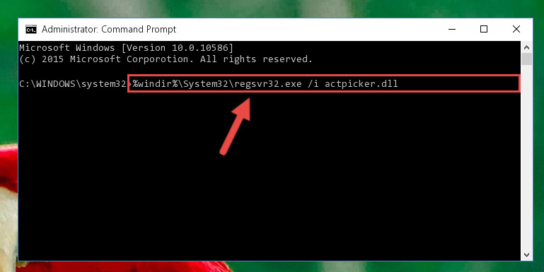 Making a clean registry for the Actpicker.dll library in Regedit (Windows Registry Editor)