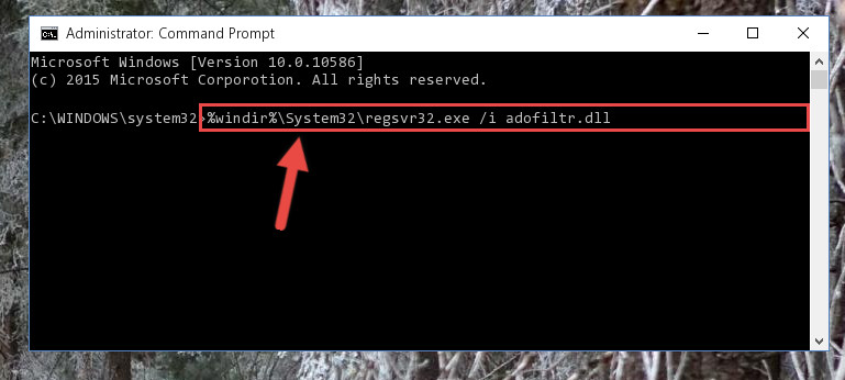 Making a clean registry for the Adofiltr.dll library in Regedit (Windows Registry Editor)