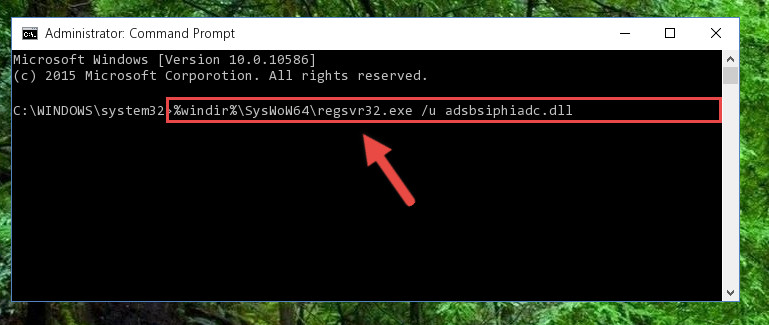 Uninstalling the Adsbsiphiadc.dll file's problematic registry from Regedit (for 64 Bit)