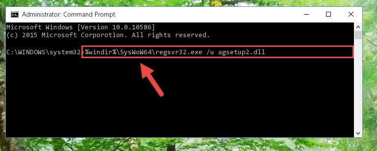 Uninstalling the broken registry of the Agsetup2.dll library from the Windows Registry Editor <em>(for 64 Bit)</em>