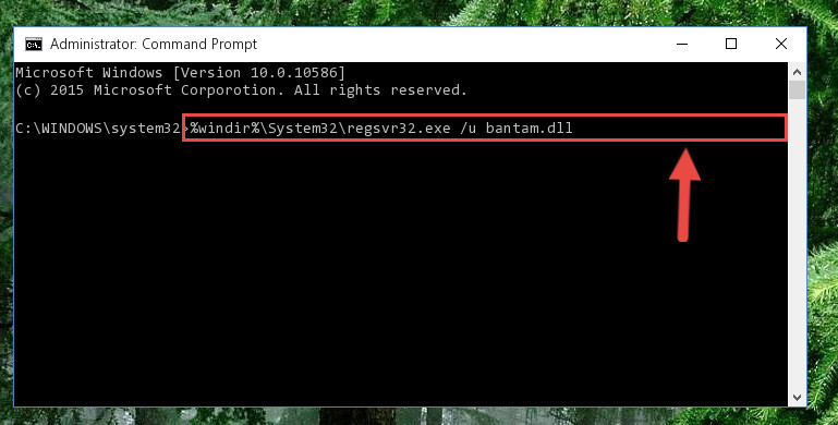 Uninstalling the Bantam.dll library from the system registry