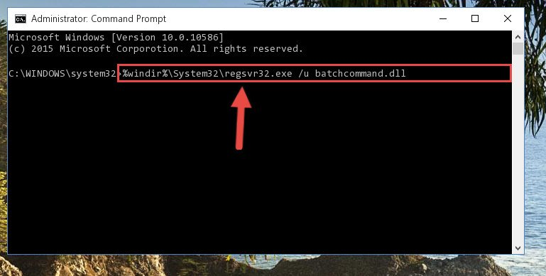 Cleaning the problematic registry of the Batchcommand.dll library from the Windows Registry Editor
