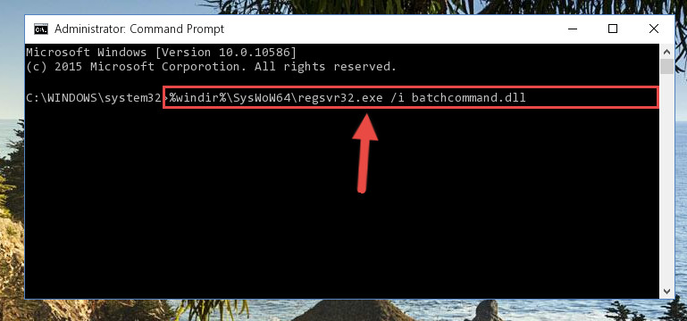 Reregistering the Batchcommand.dll library in the system (for 64 Bit)