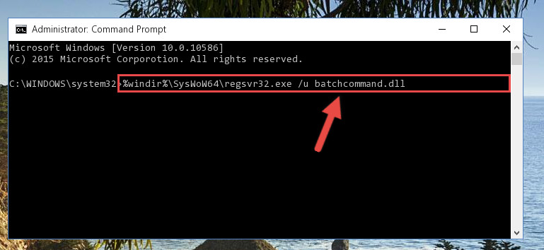 Uninstalling the Batchcommand.dll library's problematic registry from Regedit (for 64 Bit)