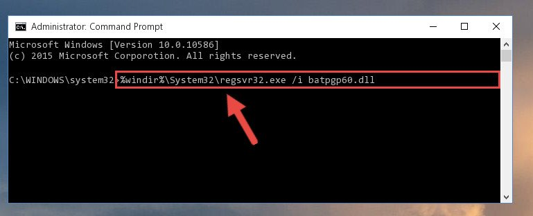 Creating a new registry for the Batpgp60.dll file