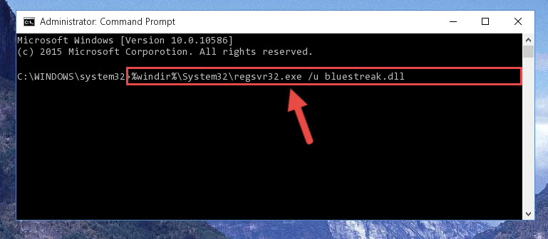 Cleaning the problematic registry of the Bluestreak.dll library from the Windows Registry Editor