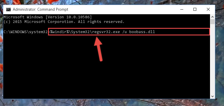 Deleting the damaged registry of the Boobass.dll