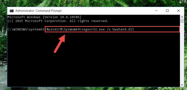 Uninstalling the Bwshand.dll library's problematic registry from Regedit (for 64 Bit)