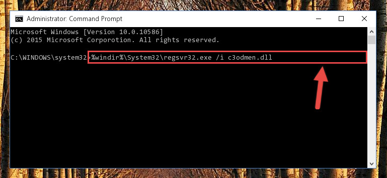 Creating a new registry for the C3odmen.dll file in the Windows Registry Editor