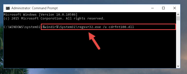 Cleaning the problematic registry of the Cdrfnt100.dll library from the Windows Registry Editor