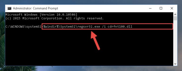 Creating a new registry for the Cdrfnt100.dll library in the Windows Registry Editor