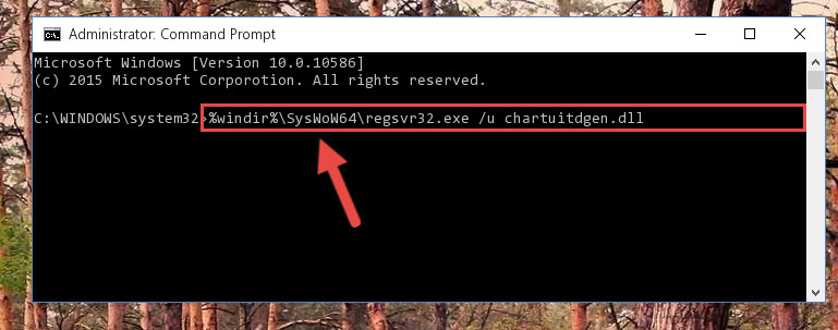Uninstalling the broken registry of the Chartuitdgen.dll library from the Windows Registry Editor (for 64 Bit)