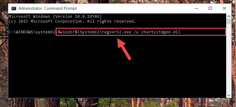 Uninstalling the Chartuitdgen.dll library from the system registry