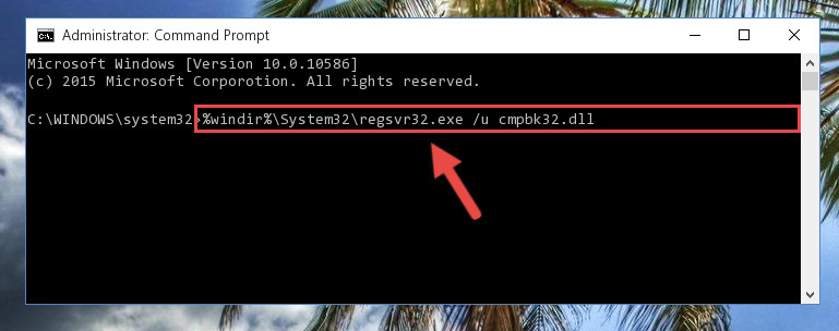 Uninstalling the Cmpbk32.dll file from the system registry