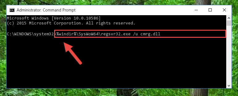 Uninstalling the broken registry of the Cmrg.dll library from the Windows Registry Editor (for 64 Bit)