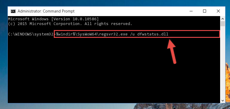 Uninstalling the Dfwstatus.dll file's broken registry from the Registry Editor (for 64 Bit)