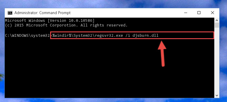 Reregistering the Djsburn.dll file in the system