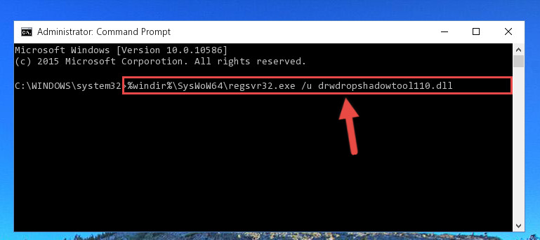 Uninstalling the Drwdropshadowtool110.dll library's broken registry from the Registry Editor (for 64 Bit)