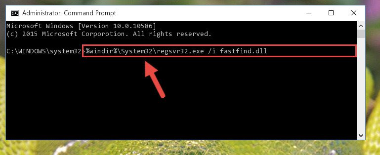 Creating a new registry for the Fastfind.dll library