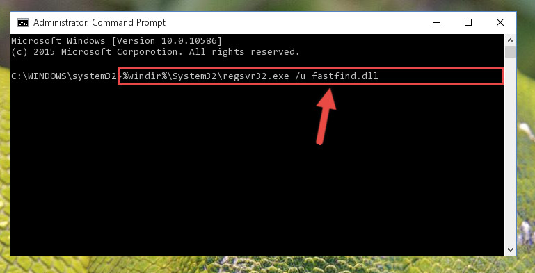 Deleting the Fastfind.dll library's problematic registry in the Windows Registry Editor