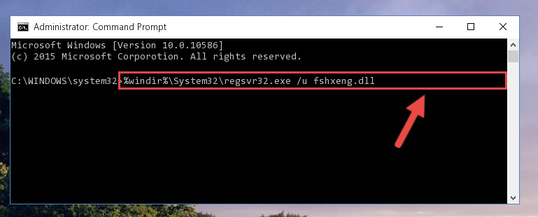 Deleting the Fshxeng.dll file's problematic registry in the Windows Registry Editor