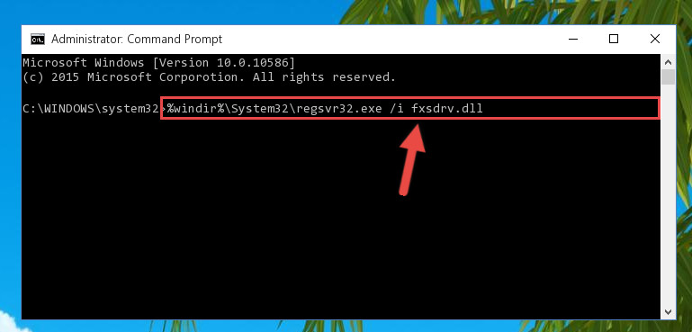 Making a clean registry for the Fxsdrv.dll library in Regedit (Windows Registry Editor)