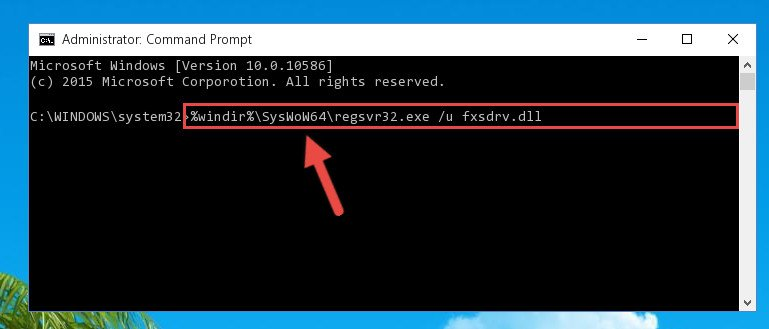 Uninstalling the Fxsdrv.dll library's broken registry from the Registry Editor (for 64 Bit)