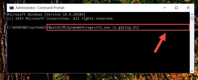 Uninstalling the G2plug.dll file's broken registry from the Registry Editor (for 64 Bit)