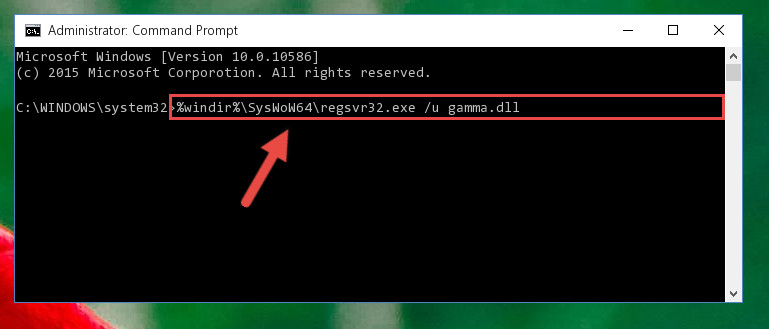 Uninstalling the broken registry of the Gamma.dll file from the Windows Registry Editor (for 64 Bit)