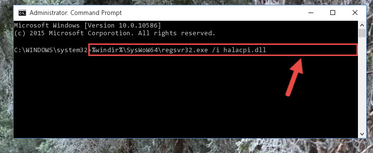 Creating a clean registry for the Halacpi.dll library (for 64 Bit)