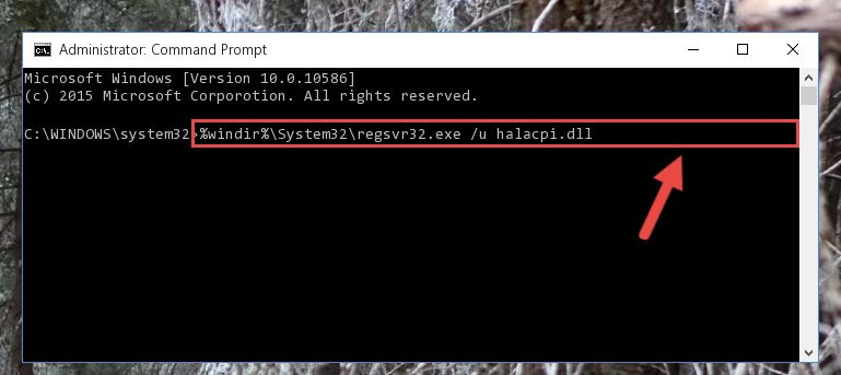Deleting the Halacpi.dll library's problematic registry in the Windows Registry Editor