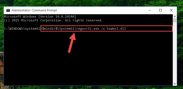 Uninstalling the Hawknl.dll library from the system registry
