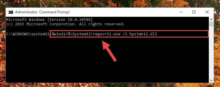 Creating a new registry for the Hpzimn12.dll library