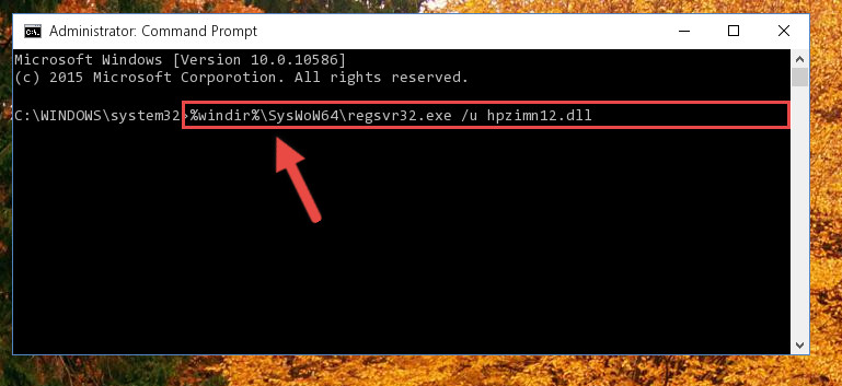 Uninstalling the Hpzimn12.dll library's broken registry from the Registry Editor (for 64 Bit)