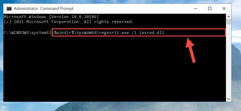 Creating a clean registry for the Iasrad.dll file (for 64 Bit)