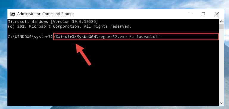 Uninstalling the Iasrad.dll file's problematic registry from Regedit (for 64 Bit)