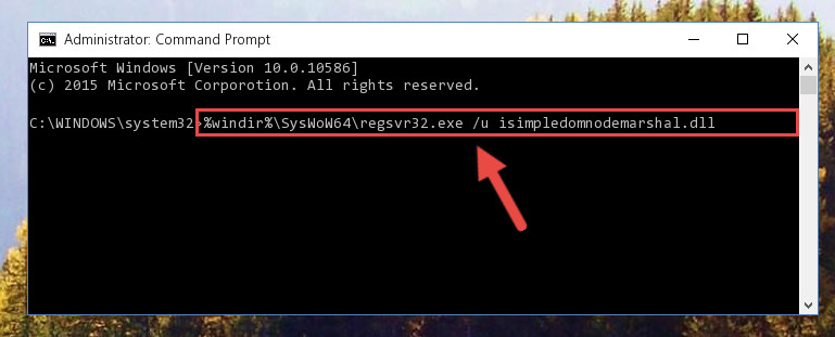Uninstalling the Isimpledomnodemarshal.dll file's problematic registry from Regedit (for 64 Bit)