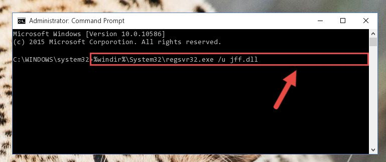 Uninstalling the Jff.dll library from the system registry