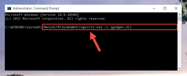 Creating a clean and good registry for the Jgadgen.dll file (64 Bit için)