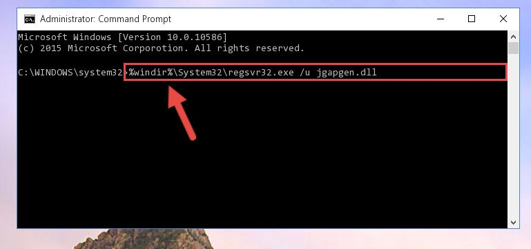 Deleting the Jgapgen.dll file's problematic registry in the Windows Registry Editor