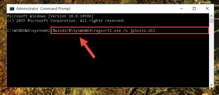 Uninstalling the broken registry of the Jpins32.dll file from the Windows Registry Editor (for 64 Bit)