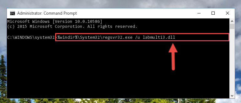 Cleaning the problematic registry of the Labmulti3.dll file from the Windows Registry Editor