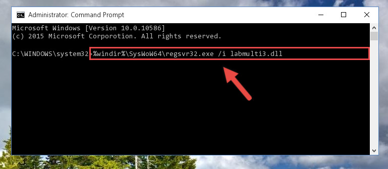 Reregistering the Labmulti3.dll file in the system (for 64 Bit)