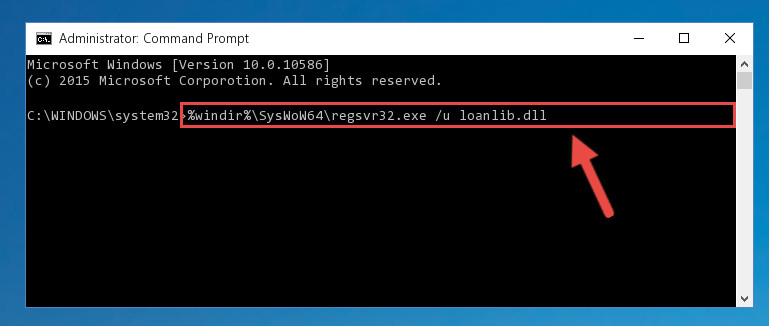 Uninstalling the Loanlib.dll library's broken registry from the Registry Editor (for 64 Bit)