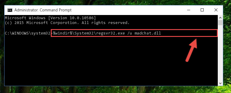 Cleaning the problematic registry of the Madchat.dll library from the Windows Registry Editor