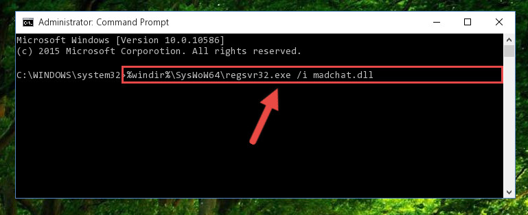 Creating a clean registry for the Madchat.dll library (for 64 Bit)